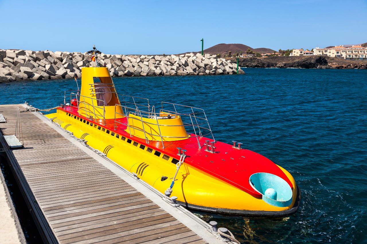 Åka ubåt på Teneriffa